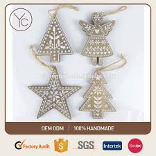 wooden christmas tree ornaments wooden xmas star angel xmas tree