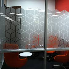 custom design frosted vinyl applied to glass via http signznz co
