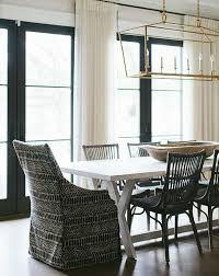 Lantern Chandelier For Dining Room by Copy Cat Chic Room Redo Transitional Black And White Dining Room