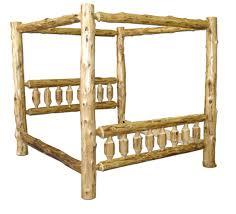 Wooden Log Beds Custom Rustic Log Beds Log Canopy Beds Log Beds White Cedar