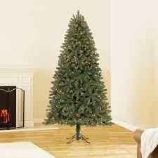 7 5 ft member s artificial pre lit scotch pine tree