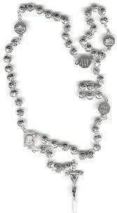 free rosary plated rosebud bead pope paul ii vatican 4 basilica rosary