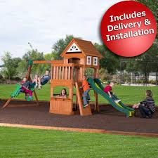 Backyard Adventure Playset by Price Monitoring Adventure Playsets Scout Swing Set With
