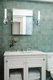 glass tile for bathrooms ideas sea glass tile bathroom traditional with framed medicine cabinet