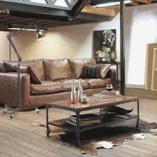 canap industriel canapé cuir vieilli maison du monde merveilleux canape design