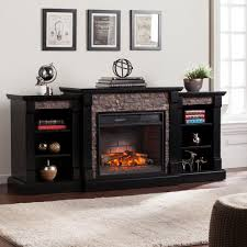 black freestanding electric fireplaces electric fireplaces