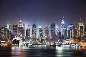 new york manhattan skyline at night wallpaper wall mural wallsauce new york manhattan skyline at night wall mural photo wallpaper