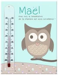 thermometre chambre bebe cadre thermomètre hibou de la gamme animaux de la forêt in