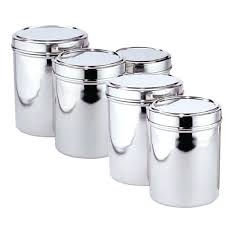 kitchen canisters stainless steel stainless steel kitchen canisters storage containers india brushed