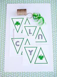 St Patrick S Day Home Decorations Printable Banner For St Patrick U0027s Day Hgtv