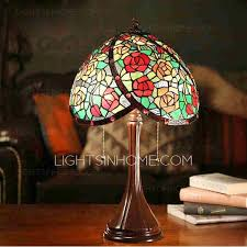 mini stained glass ls vintage rose pattern stained glass shade tiffany style l