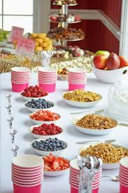 bridal shower brunches fruit granola and yogurt parfait bar bridal shower