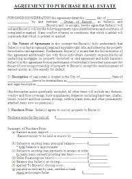 real estate contract template real estate contract template 4 jpg