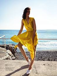 Beach Style by Moa åberg Poses In Chic Beach Style For Elle Sweden