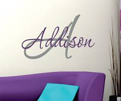 Name Wall Decals For Nursery by Wall Decals Nursery Name Wall Decal Girls Name Vinyl Wall