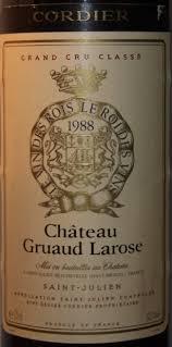 30 years of château gruaud 1988 château gruaud larose bordeaux médoc st julien