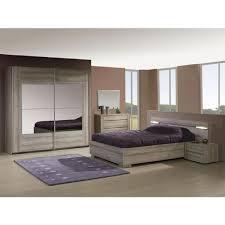chambre 180x200 avec armoire 260cm marron achat vente