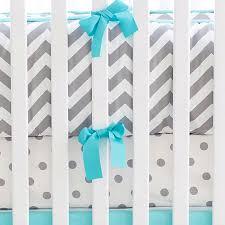 gray u0026 aqua chevron crib bedding chevron baby bedding gray nursery