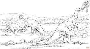 camptosaurus plant eating dinosaurs coloring page free printable