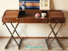 Drexel Desk Vintage Drexel Campaign Desk On Etsy 495 00 Vintage Cool