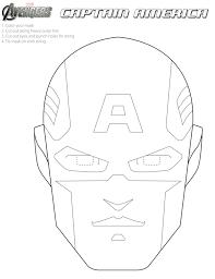 free avengers printable halloween masks color avengers