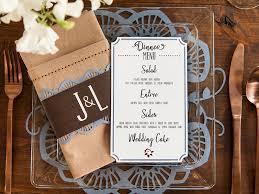 diy wedding menu cards uniquely you diy weddings cricut