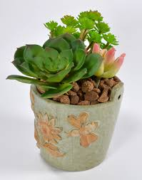 embossed painting ceramic flower pot vintage mini pots for