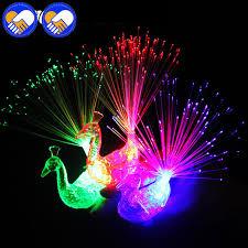 led light up rings a toy a dream 100 pcs lot peacock robot finger light colorful led