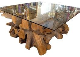Rustic Teak Coffee Table Rustic Teak Root Wood Center Square Table Base