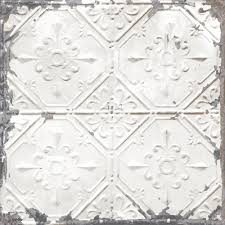 peel and stick wallpaper nuwallpaper white and off white vintage tin tile peel and stick
