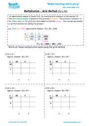 multiplication grid method tu x tu teach my kids