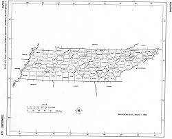 Pennsylvania Counties Map by Tennessee State Map With Counties Outline And Location Of Each