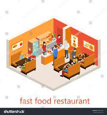 isometric fast food restaurant stock vector 388025368 shutterstock