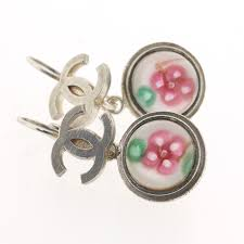 types of earrings for men ginza rakuten global market chanel here flower motif