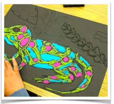 chalk rainforest animals art video deep space sparkle