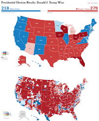 Us Election Results Map by Electoral Map Upon Trump U0027s Victory Vivid Maps