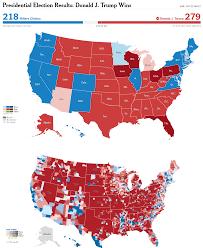 Canada Election Map by Electoral Map Upon Trump U0027s Victory Vivid Maps
