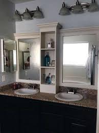 cherry wood bathroom mirror dark wood bathroom mirror bathroom traditional with bath
