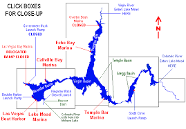 lake mead map map of lake mead