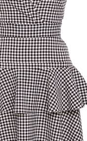 Gingham Vs Plaid Vs Tartan Lorraine Gingham Peplum Dress By Marissa Webb Moda Operandi