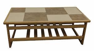 tile top coffee table mocha tile top large coffee table