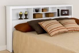Full Size Headboards With Storage by Full Size Headboard With Shelves And Storage Simple Queen Bed Made
