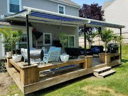 Pergola Retractable Canopy by Shield Your Deck From The Elements With A Retractable Pergola