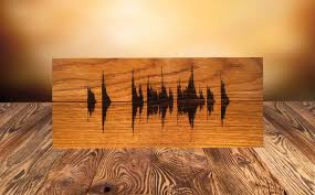 personalized wooden gifts soundwave wall custom wood burned personalized wooden