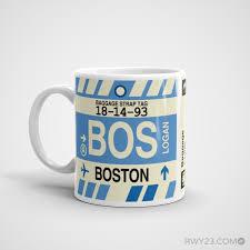 Massachusetts Travel Mugs images Bos boston airport code mug cool airport code stuff rwy23 png