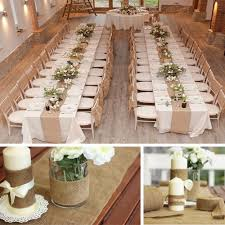 10m 33cm vintage hessian jute burlap roll for wedding party table
