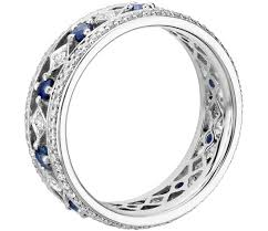 white gold eternity ring sapphire and diamond eternity ring in 18k white gold tanary jewelry