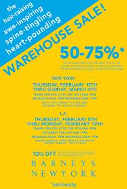 barneys warehouse sale thegloss