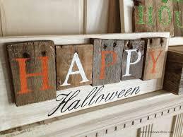 chalkboard blue pallet style halloween signs