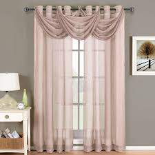 amazon com abri gray silver grommet crushed sheer curtain panel